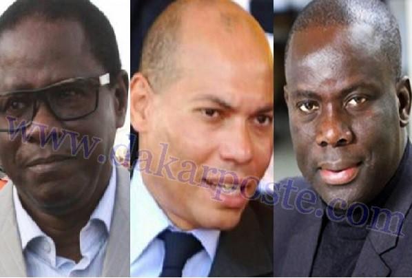 Malick Gackou et Pape Diop rendent visite à Karim Wade