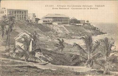Carte postale : Plage de l'Anse Bernard, Dakar Plateau