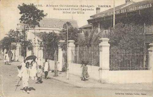 Carte postale : Dakar, Boulevard Pinet Laprade
