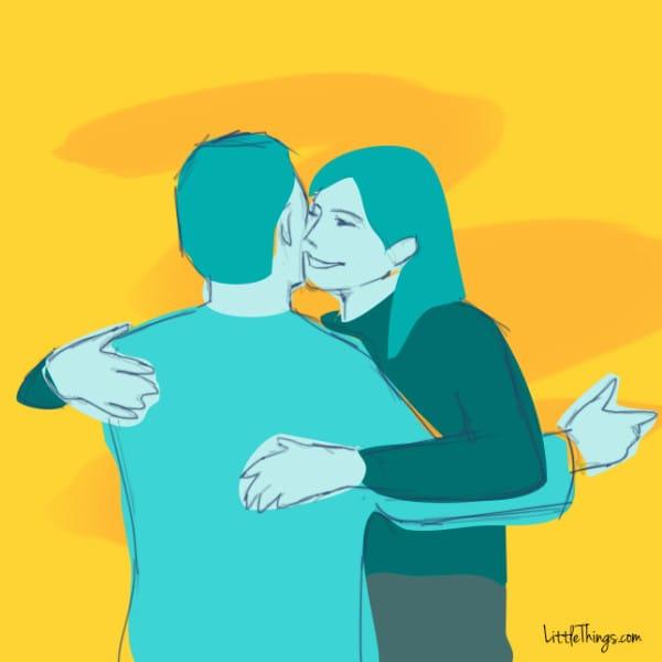 La manière dont vous faites des câlins révèle certains petits secrets sur votre relation...Pour ma part, c'est vraiment tout à fait ça !