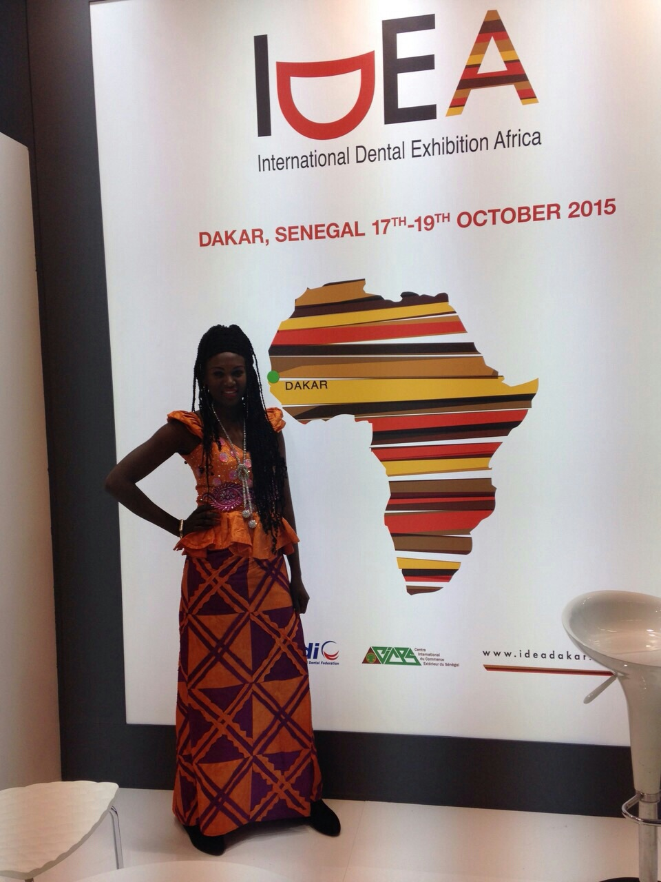 Amina Badiane, co-organisatrice du Salon dentaire international à Dakar