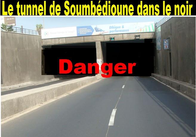 Coupure d'électricité : Le tunnel de Soumbédioune plongé dans le noir pendant une heure