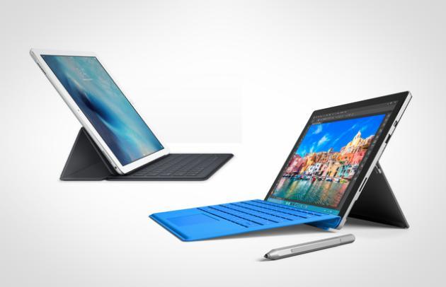 surface pro 4 vs ipad pro quel est le meilleur hybride tablette pc. Black Bedroom Furniture Sets. Home Design Ideas