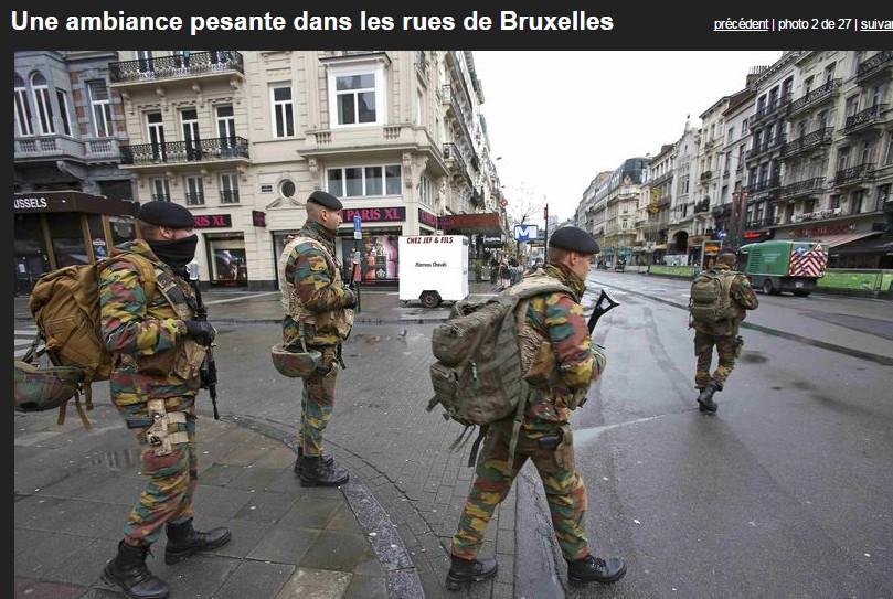 Menace d'attentats : Bruxelles en état d'alerte maximale