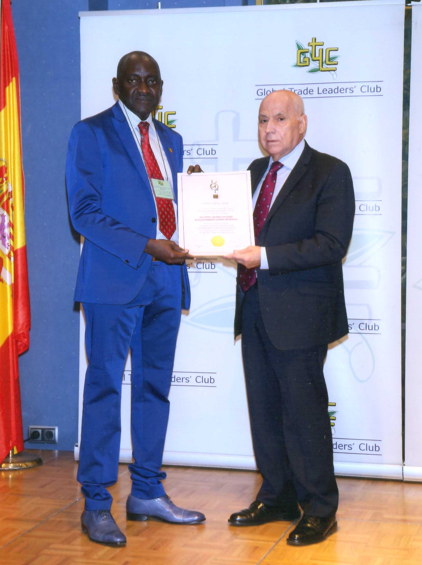 L'Aser honorée à Madrid