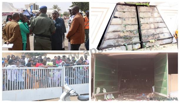 Vidéo - Incendie au Cices: Le Pavillon Vert de la Foire de Dakar réduit en cendre.