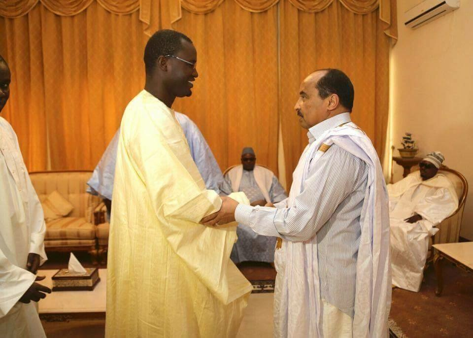 Photos - Le Khalife général des Mourides présente ses condoléances au Président mauritanien