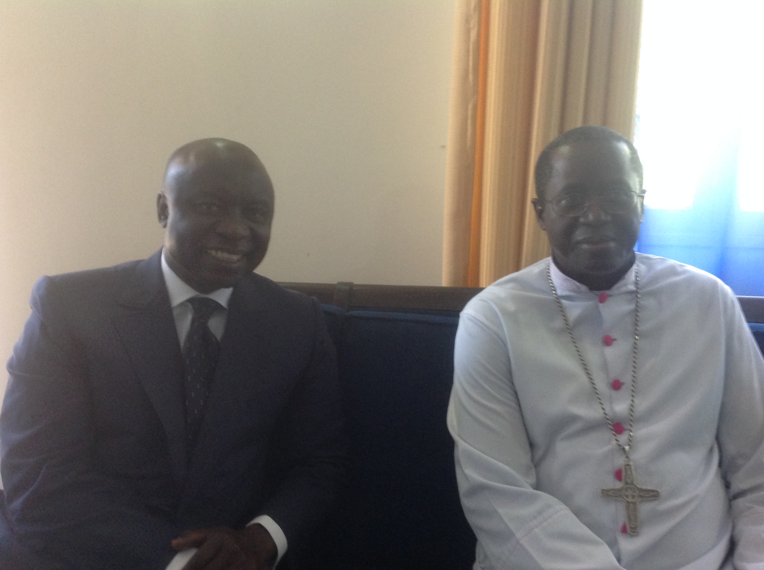 Idrissa Seck rend visite à l'archevêque de Dakar, Mgr Benjamin Ndiaye