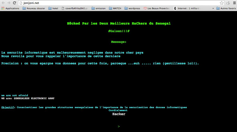Transfert d'argent : Le site de Joni Joni piraté
