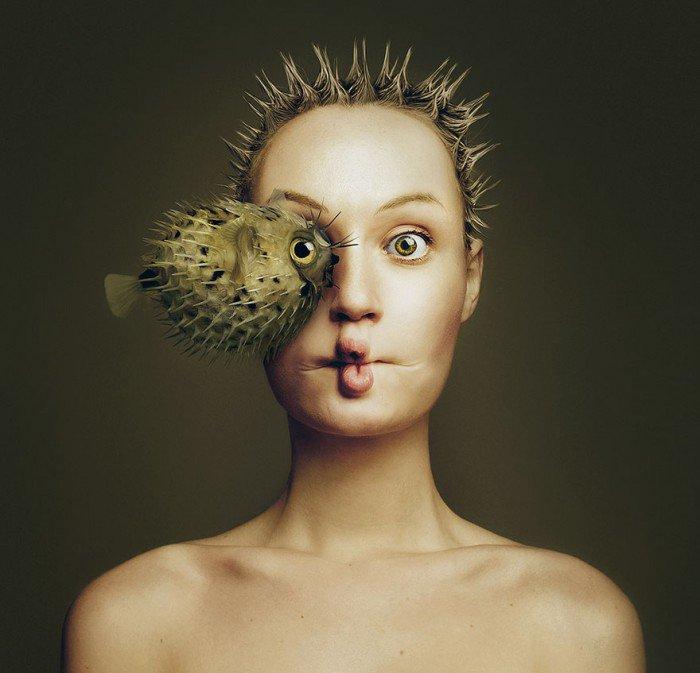 Cette artiste se photographie de manière très spéciale avec des animaux... Et le résultat final va vous bluffer