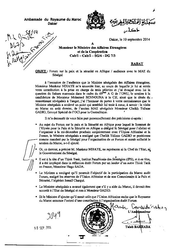 Après le démenti de l'Ambassade marocaine, Diaspora Saharaui revient à la charge et enfonce Mankeur N'diaye