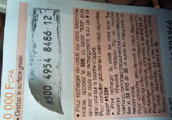 Arnaque : une nouvelle trouvaille des escrocs, vous refiler une carte de crédit de 10 000 FCFA qui n'en contient 1 000 FCFA
