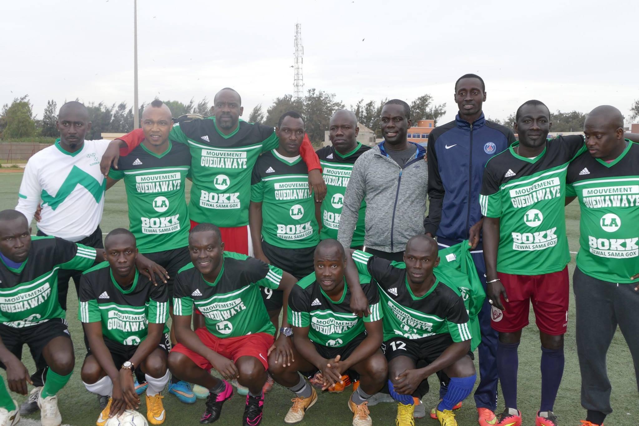 El Hadji Diouf, Balla Gaye 2, Lac 2, Malick Gakou, Ahmed Aidara, Aziz Ndiaye pour un match de Gala