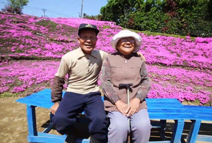 Sa femme perd la vue, il passe 2 ans à planter des milliers des fleurs parfumées afin de lui redonner le sourire