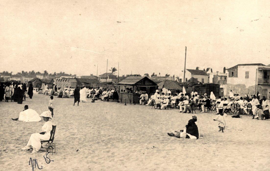 La plage de Guet Ndar en 1900