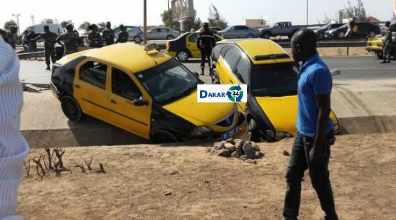 Accident sur l'autoroute: Un Camion Militaire heurte des véhicules et blesse une vieille femme