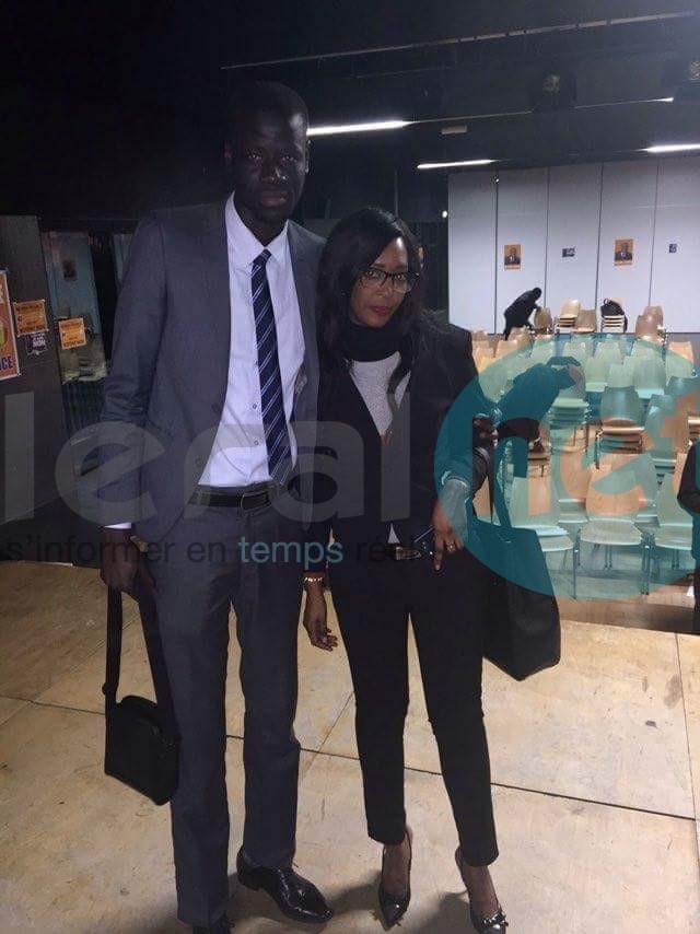 Ibrahima Ndiaye responsable des jeunes du PDS en France avec Fama Sow la nouvelle coqueluche sénégalaise à Paris