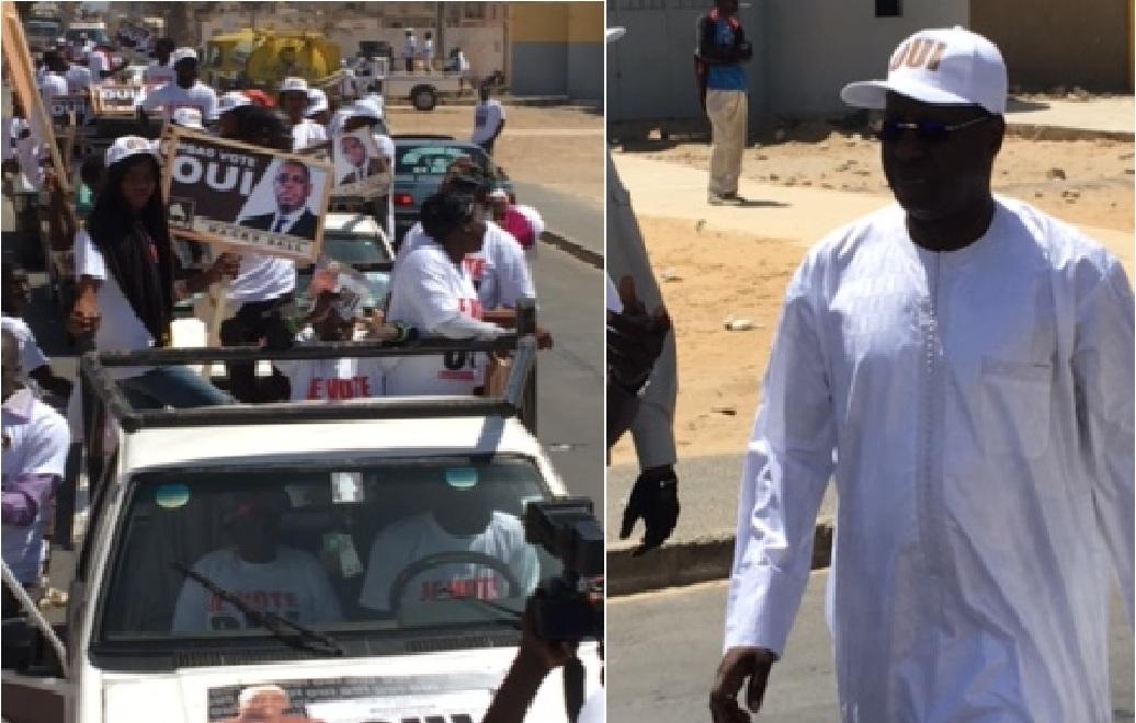 """Référendum 2016: """"OUI"""" à Mbao, Abdou Karim Sall marque son territoire"""