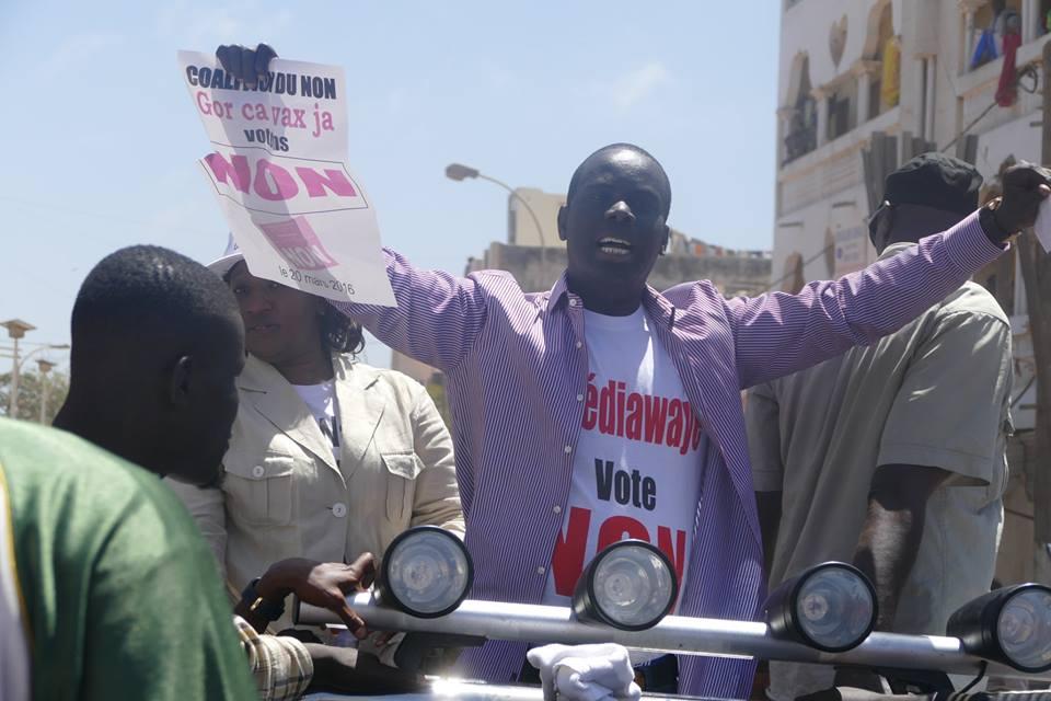 Campagne pour le référendum - Le cortège de Malick Gakou agressé