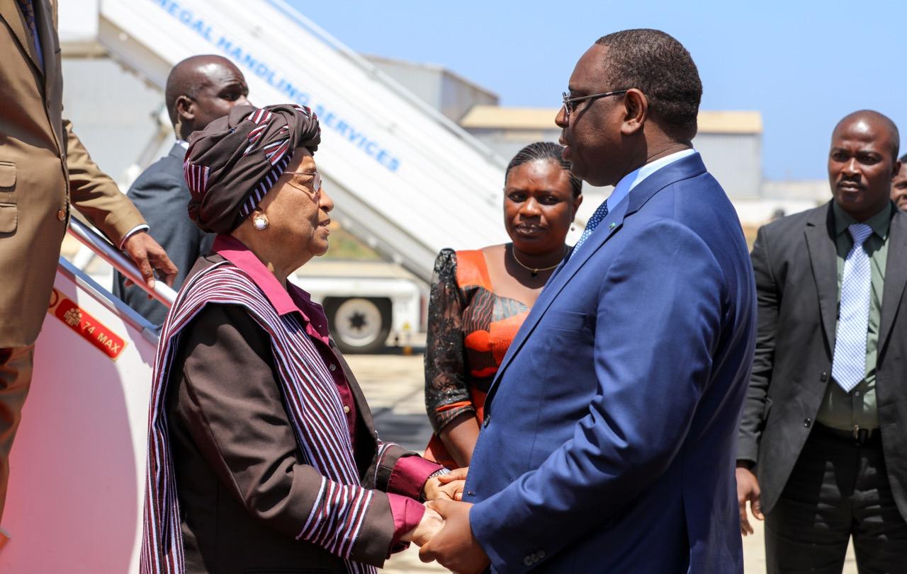 Coopération: La Présidente du Libéria effectue une visite  de travail à Dakar