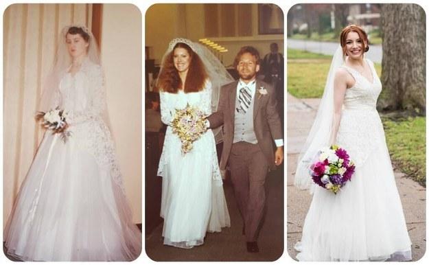 Cette femme a porté la même robe de mariée que sa mère et sa grand-mère