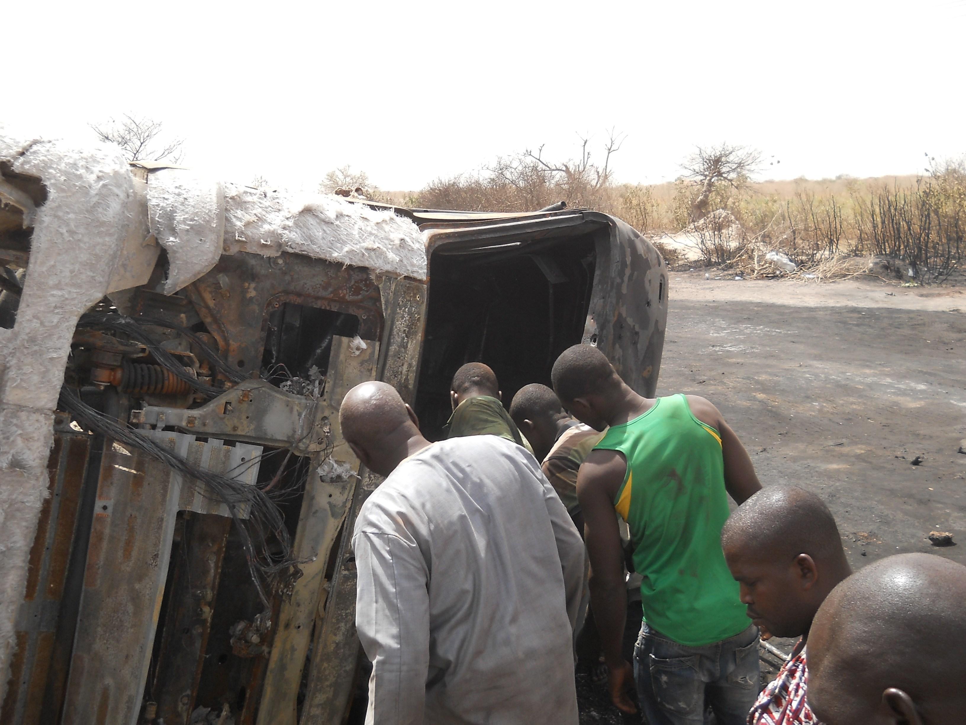 Accident à Kaolack : Le chauffeur du camion-citerne meurt carbonisé