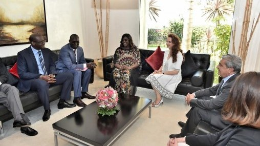 La Princesse Lalla du Maroc reçoit Mariéme Faye Sall