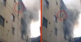 Désemparée, la maman jette ses 2 enfants de l'immeuble en feu. Mais quand elle jette le bébé d'un an par la fenêtre, j'ai eu le souffle coupé!
