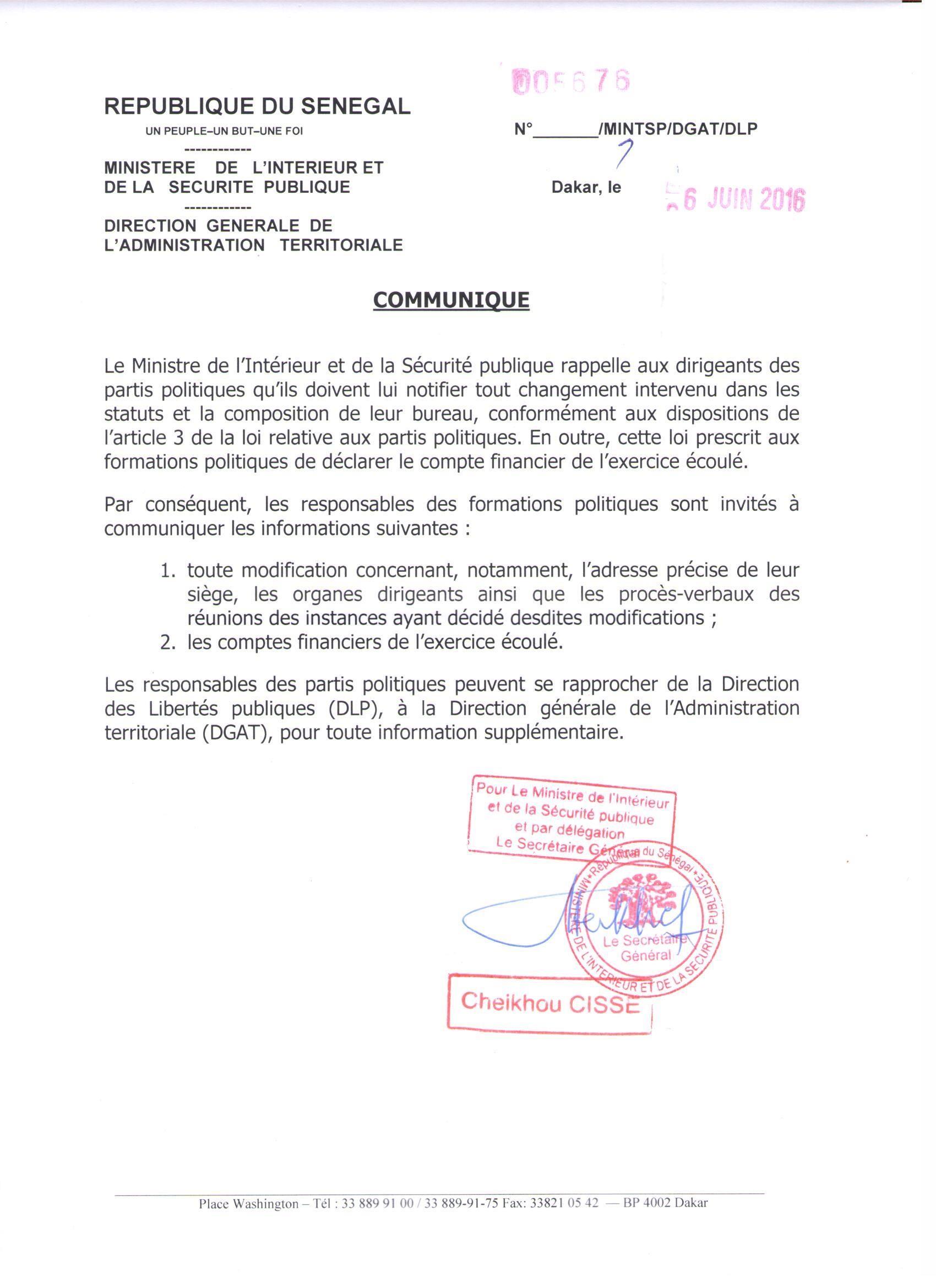Partis politiques et syndicats : Abdoulaye Daouda Diallo entame le grand ménage!