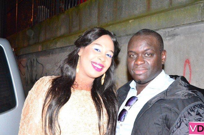 Habib Faye et sa femme au lendemain de la soirée de Waly Seck à Bercy