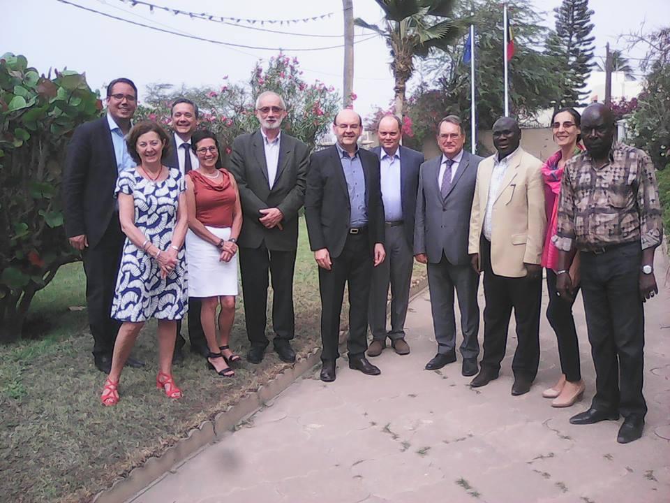 L'Ambassadeur de la Belgique à Dakar Philippe Colyn reçoit le Bourgmestre de Berchem Sainte-Agathe, Joël Riguelle