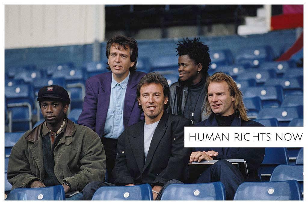La tournée mondiale d'Amnesty international 'Human Rights now' 1988
