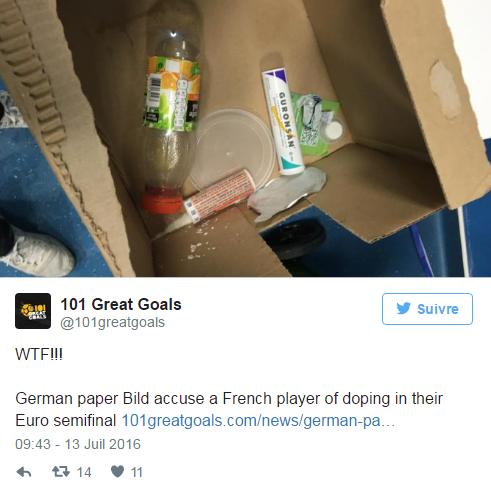 Un joueur français s'est-il dopé contre l'Allemagne?