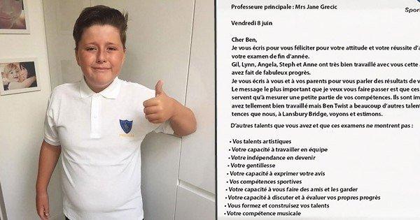 Cet enfant autiste de 11 ans a raté ses examens mais cette lettre provenant de son école a fait pleurer sa mère de joie... Découvrez pourquoi !