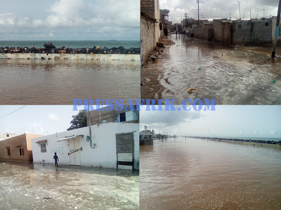 Erosion côtière à Rufisque: la mer envahit la ville