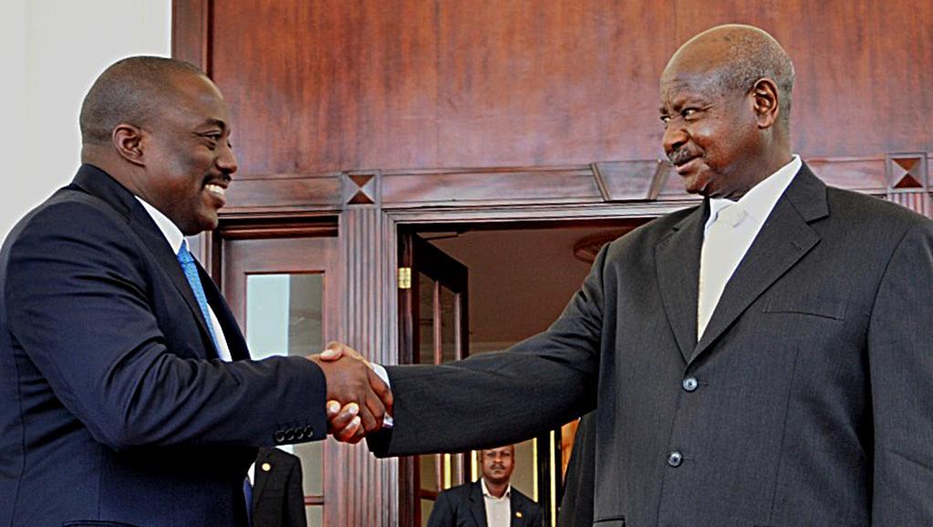 Joseph Kabila en visite en Ouganda pour discuter sécurité