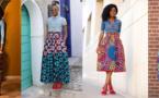 Chemise en jean et jupe pagne: un style à adopter