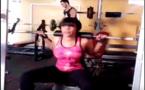 Vidéo - Aida Samb en mode musculation intensive… !