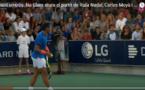 Rafael Nadal arrête son match pour permettre à une maman, paniquée, de retrouver sa fille qu'elle a perdu de vue. Émotions garanties !