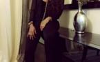 Aida Samb,dans une tenue marron appréciez l'artiste!!