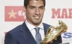 Luis Suarez a reçu son Soulier d'Or récompensant le meilleur buteur de LaLiga !