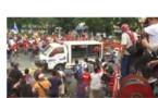 Vidéo : Philippines, le fourgon de la police écrase les manifestants