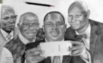 Selfie du Président Macky Sall avec ses prédécesseurs de l'artiste Ibrahima Thiam.