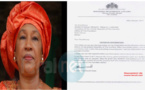 Exclusif: voici la lettre de démission de Neneh Macdouall Gaye, ministre gambienne des Affaires étrangères à Dakar ( Document administratif)