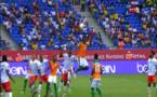 Vidéo - CAN 2017: La Côte d'Ivoire égalise d'un joli coup de tête de Wilfried Bony contre la RD Congo (1-1) à la 24e mn