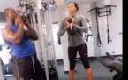 Vidéo: Modou Lo s'entraîne avec la sublime miss Dakar, Ndèye Astou Sall