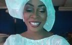 Aby Ndour en fervente talibé, tout en blanc pour célébrer l'Appel de Seydina Limamou Laye