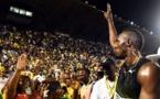Le sprinteur Usain Bolt fait ses adieux au public de la Jamaïque