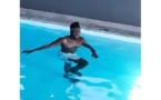 Pape Ndiaye  Souarè dans la piscine: la rééducation continue