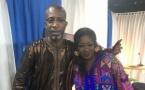 Maty Dieng de la TFM, pose avec Bouba Ndour